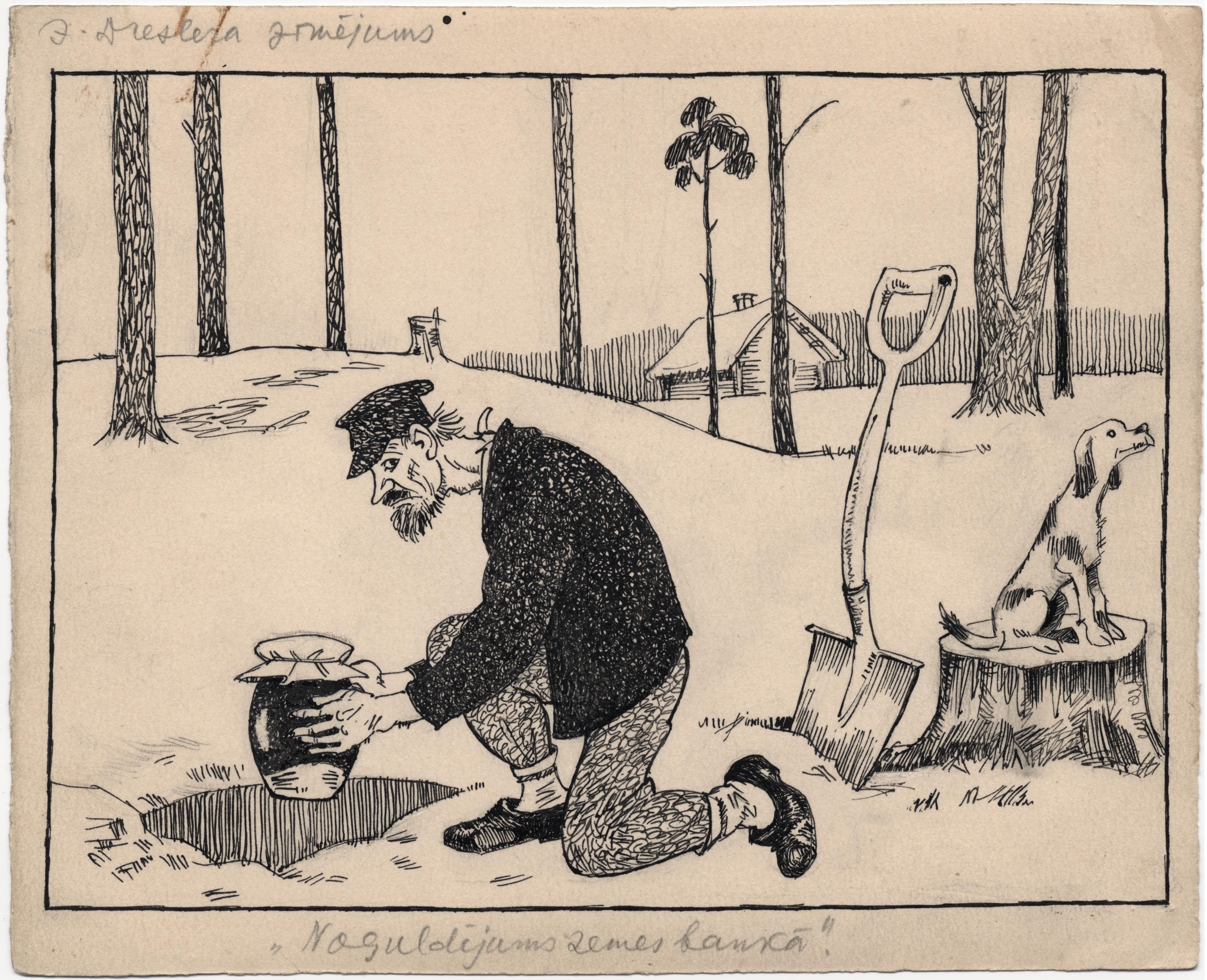Jāņa Dreslera karikatūra
