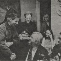 Desmonds Īgens, Pēteris Cedriņš, Maija Apine, Juris Kronbergs un Bengts Bergs