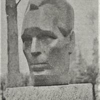 L. Davidovas-Medenes veidotā A. Upīša skulptūra