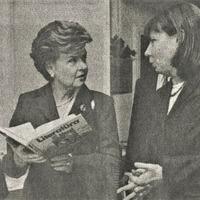 Vaira Vīķe-Freiberga un Vija Kilbloka