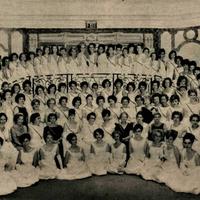 """Korporācijas """"Dzintra""""  40 gadu dibināšanas atceres balles dalībnieces"""