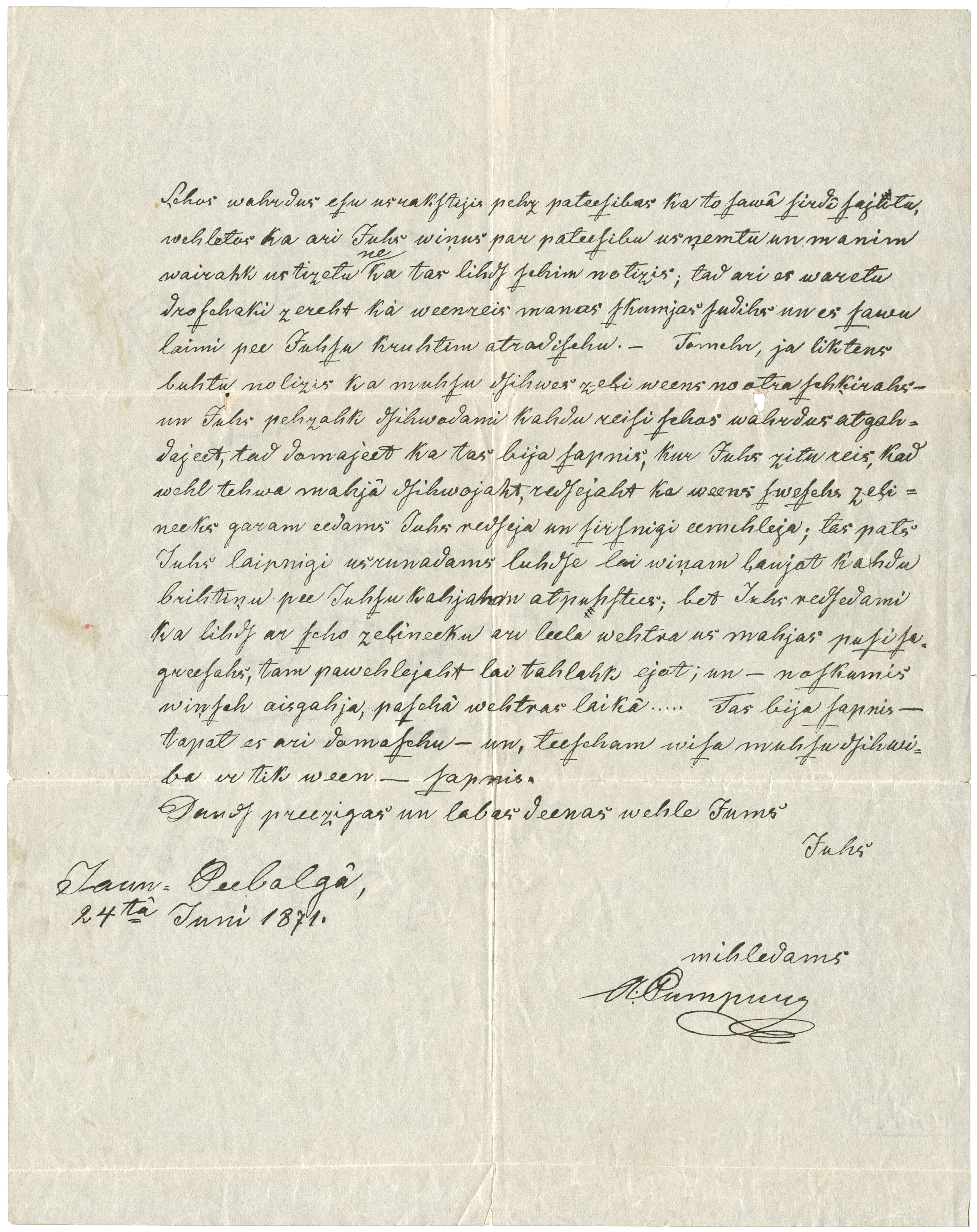 Andreja Pumpura vēstule