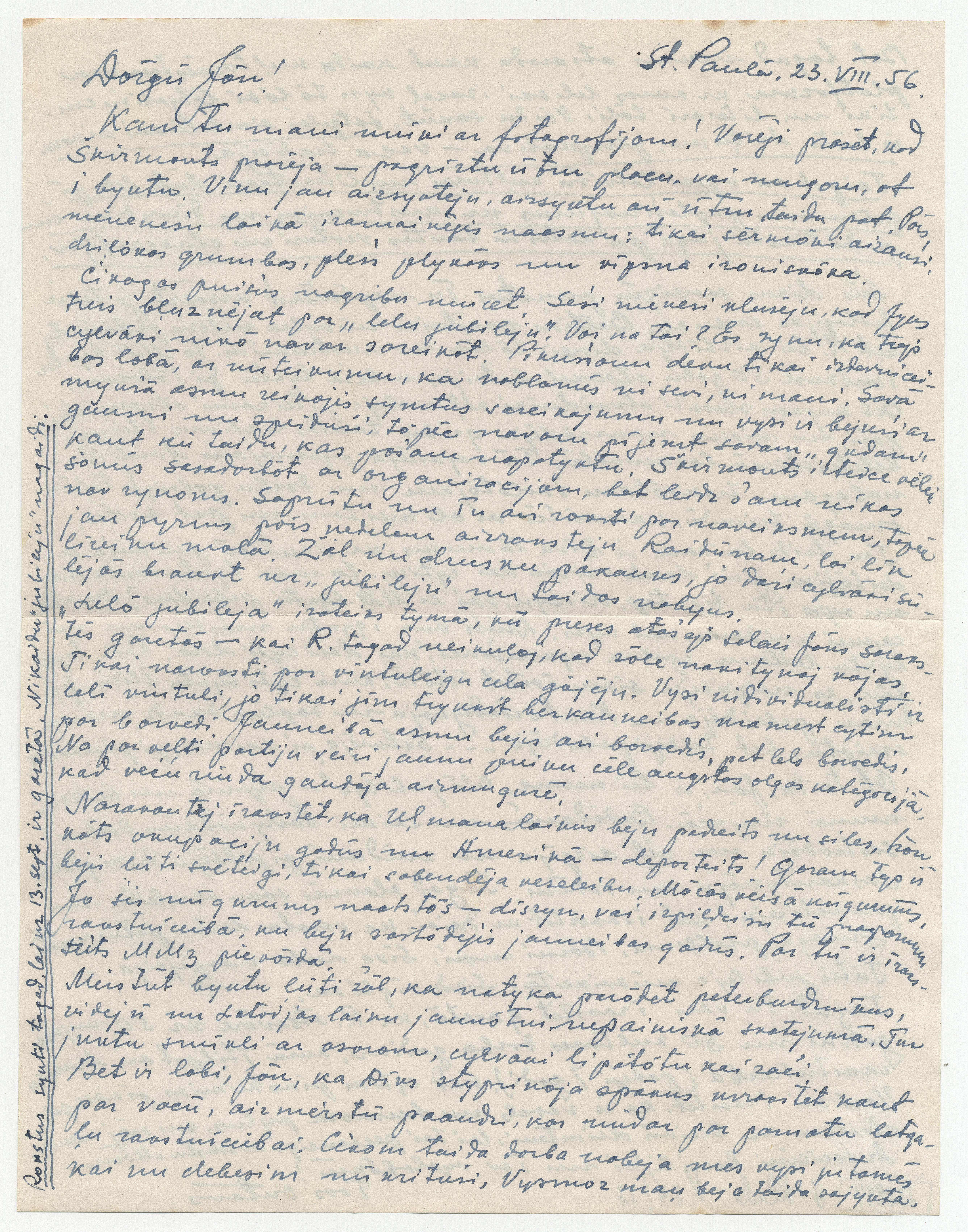 Ontona Rupaiņa vēstule (pirmā daļa)