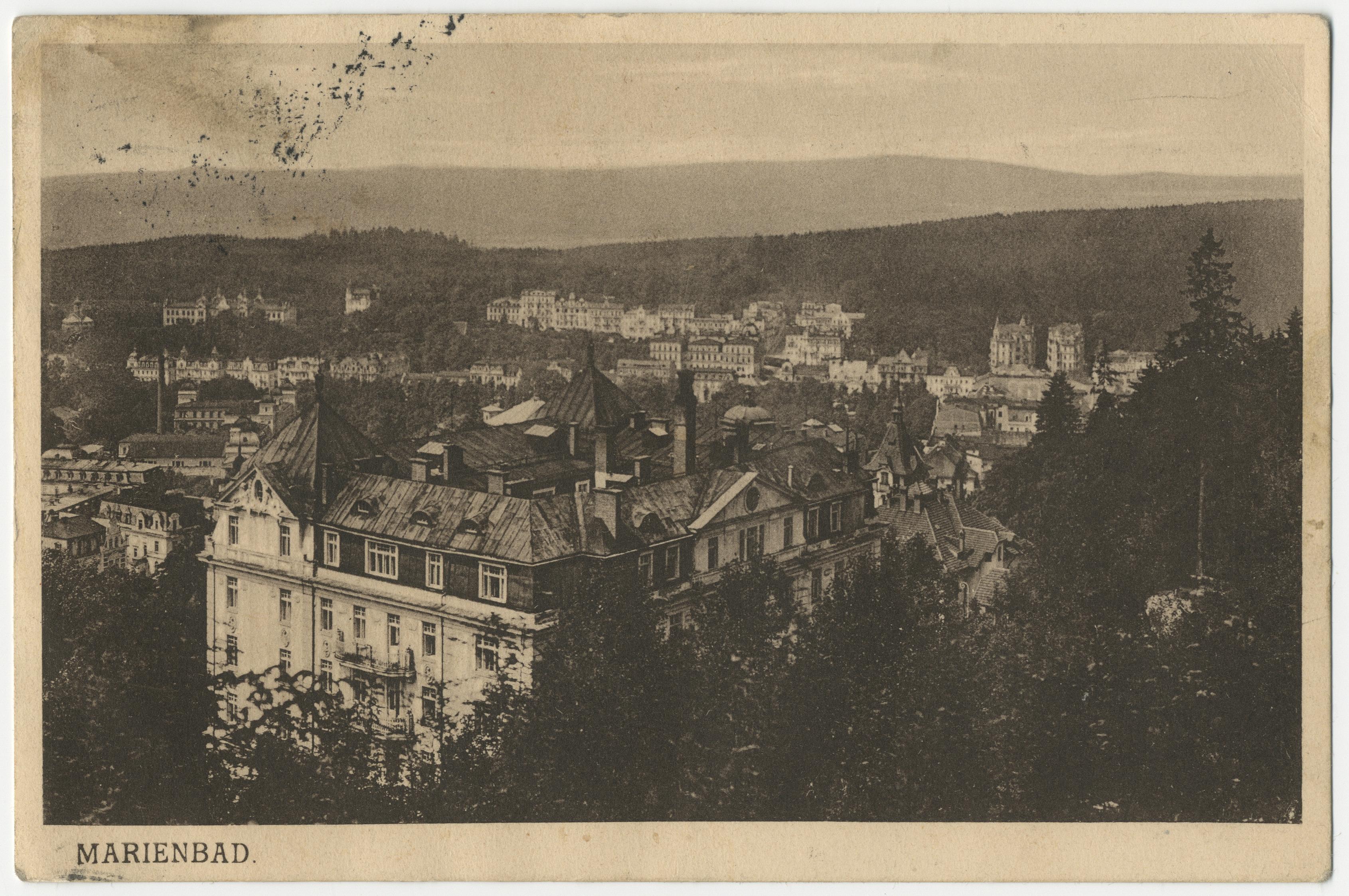 Emīlijas Benjamiņas pastkarte (priekšpuse)