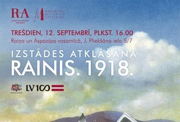 """Izstāde """"Rainis. 1918."""" Raiņa un Aspazijas vasarnīcā"""