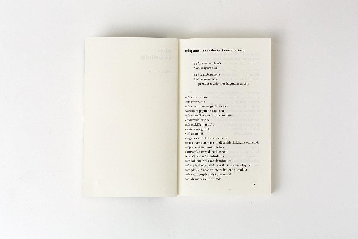 """Dzejnieka Kikōnes dzejas grāmatas """"Jūs kavējaties"""" atvēršana"""