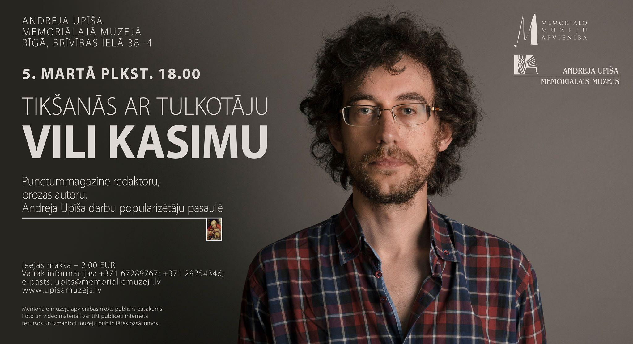 Tikšanās ar tulkotāju Vili Kasimu
