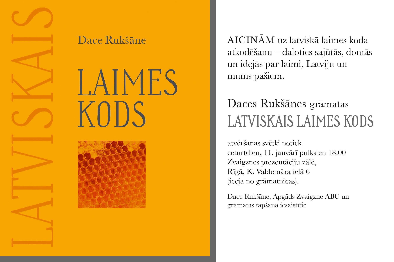 """Grāmatas """"Latviskais laimes kods"""" atvēršana"""