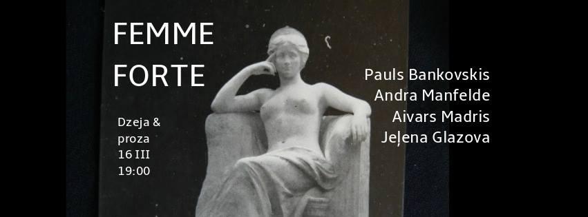 """Aspazijas 153. dzimšanas dienas dzejas un prozas lasījumi """"Femme forte"""""""